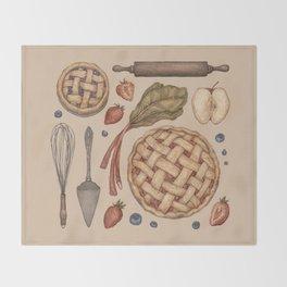 Pie Baking Collection Throw Blanket