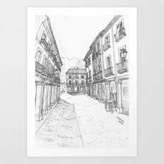 Calle Mayor of Alcalá Art Print