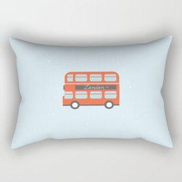 London Bus Illustration Rectangular Pillow