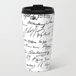 Famous Autographs of the late 1800s Travel Mug