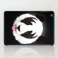 panda iPad Cases featuring Kiss of a panda by Robert Farkas