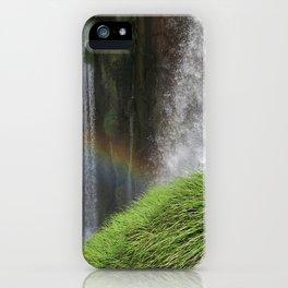 Iguazu Falls rainbow waterfalls earth rock water elements iPhone Case