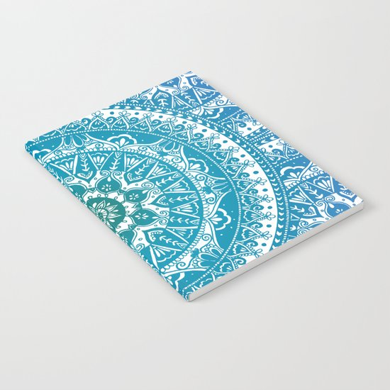 Aquamarine Mandala Pattern Notebook