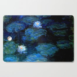 monet water lilies 1899 Blue teal Cutting Board