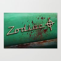 zodiac Canvas Prints featuring Zodiac by Treyson Bird
