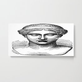 GOD face Metal Print
