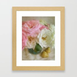 Roses & Pears Framed Art Print