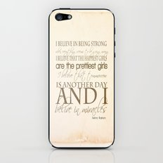 I believe in Miracles  iPhone & iPod Skin