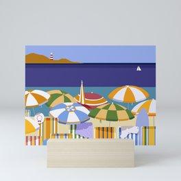 MORNING AT THE BEACH Mini Art Print