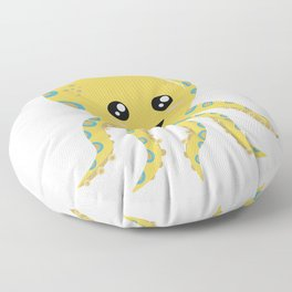 Cute Yellow and Blue Octopus Floor Pillow