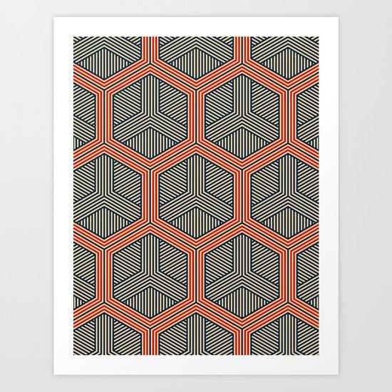 Hexagon No. 1 Art Print