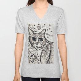 Anabel the Pretty Kitty Unisex V-Neck