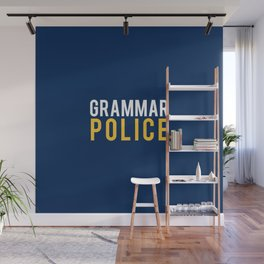 Grammar Police - To Correct and Serve Wall Mural