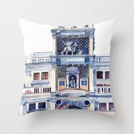 St Mark's Clocktower Throw Pillow