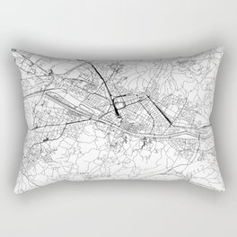 Florence White Map Rectangular Pillow