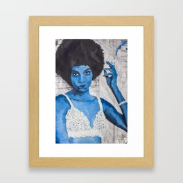 Indigo Joan  Framed Art Print