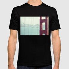 Golden Gate Bridge San Francisco Mens Fitted Tee MEDIUM Black