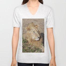 Happy Lion Unisex V-Neck