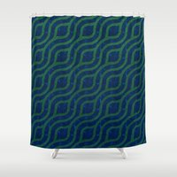 river Shower Curtains featuring River by Lyle Hatch