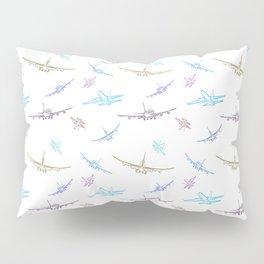 Pastel Airplanes Pillow Sham