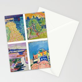 Henry Matisse Collage - 6 Views of England & France, Charing Cross, Mts. Colloure, River Thames, Stationery Cards