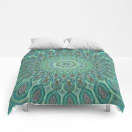 Mint Dreams Mandala Comforters