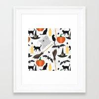 halloween Framed Art Prints featuring Halloween by Julia Badeeva