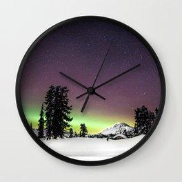 Elfin Lake Aurora Wall Clock