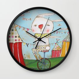 Bunny joined the circus Wall Clock