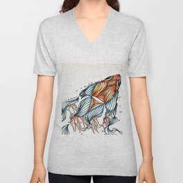 Ika - friend not food Unisex V-Neck