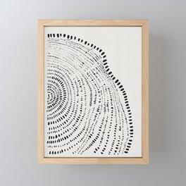 Tree Rings No. 2 Line Art Framed Mini Art Print