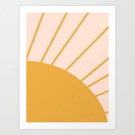 hi there sun Art Print
