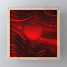 Red heart 16 Framed Mini Art Print