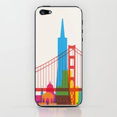 Shapes of San Francisco. Accurate to scale iPhone & iPod Skin