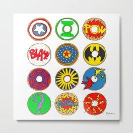 Superhero Donuts Metal Print