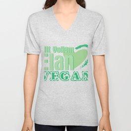 With Elan Vegan Gift Vegan Veganism Unisex V-Neck