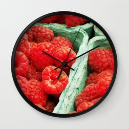 Ravenous Raspberries Wall Clock