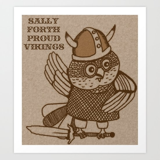 Sally Forth Proud Vikings Art Print