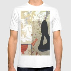 Nude MEDIUM White Mens Fitted Tee