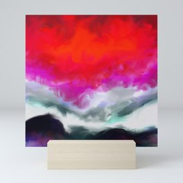 Abstract in Red, White and Purple Mini Art Print