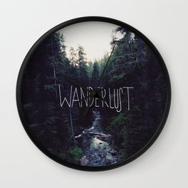 Wanderlust: Rainier Creek Wall Clock