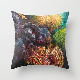 Scorpionfish Throw Pillow