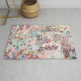 Lille map Rug