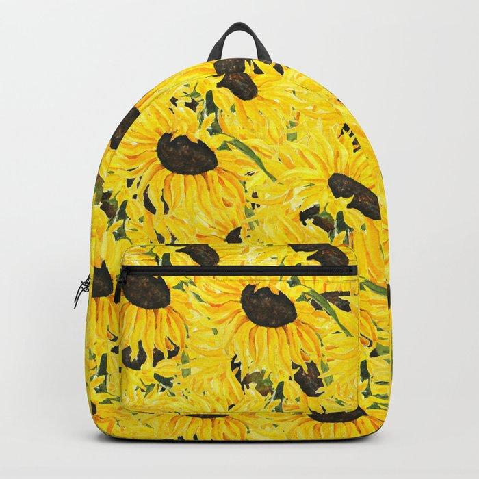 sunflower pattern 2018 1 Backpack