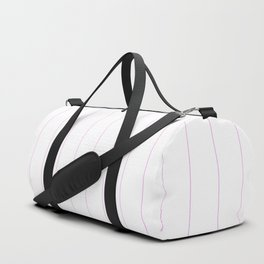 Pinstripes - Pink Duffle Bag