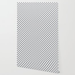 Grey Checkerboard Pattern Wallpaper