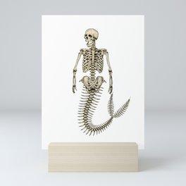 Mermaid Skeleton Mini Art Print