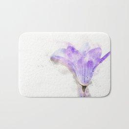 Bluebell flower Bath Mat
