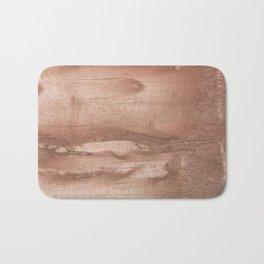 Brown abstract watercolor Bath Mat