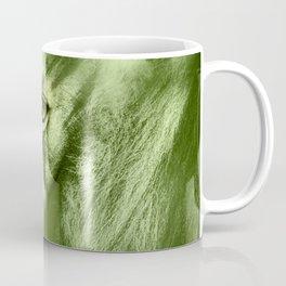 Fantasy Lion of Legend in Green-Glow Coffee Mug